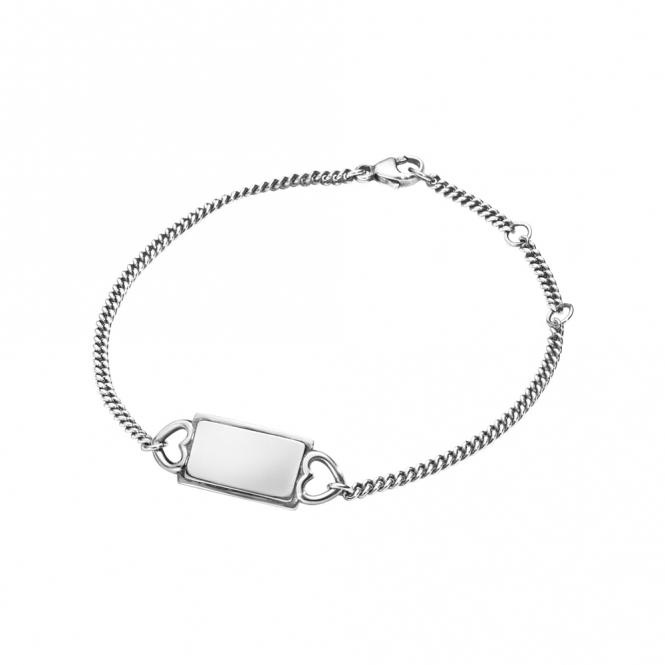 Sterling Silver Hearts of Georg Jensen Bracelet