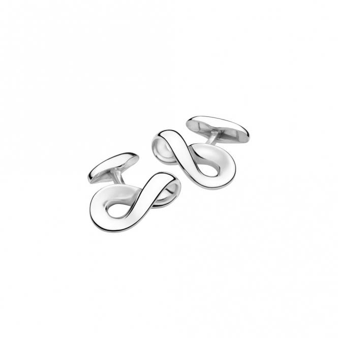 Sterling Silver Infinity Cufflinks