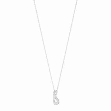 Sterling Silver Infinity Diamond Pendant