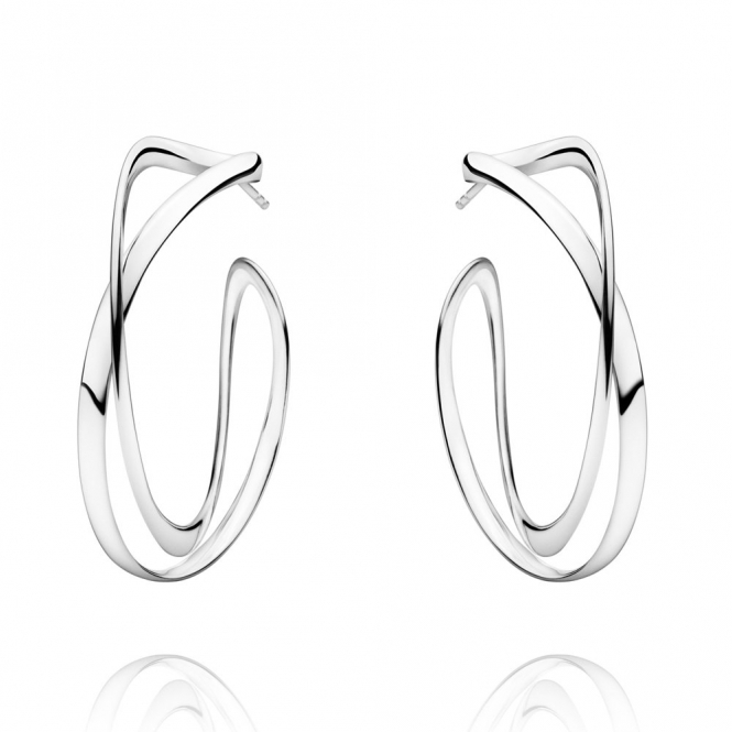 Sterling Silver Infinity Hoop Earrings Large