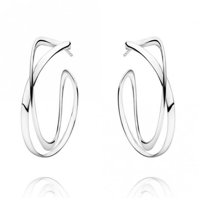 Sterling Silver Infinity Hoop Earrings Large