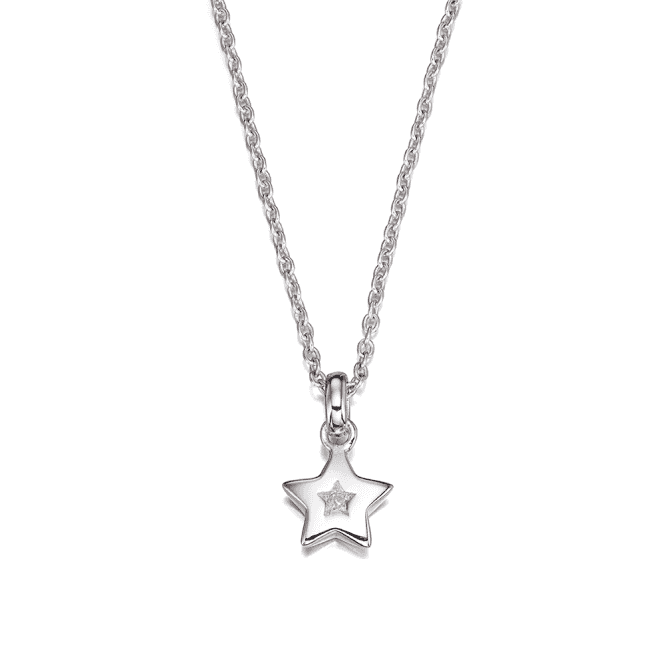Sterling Silver Kirsty Diamond Star Pendant