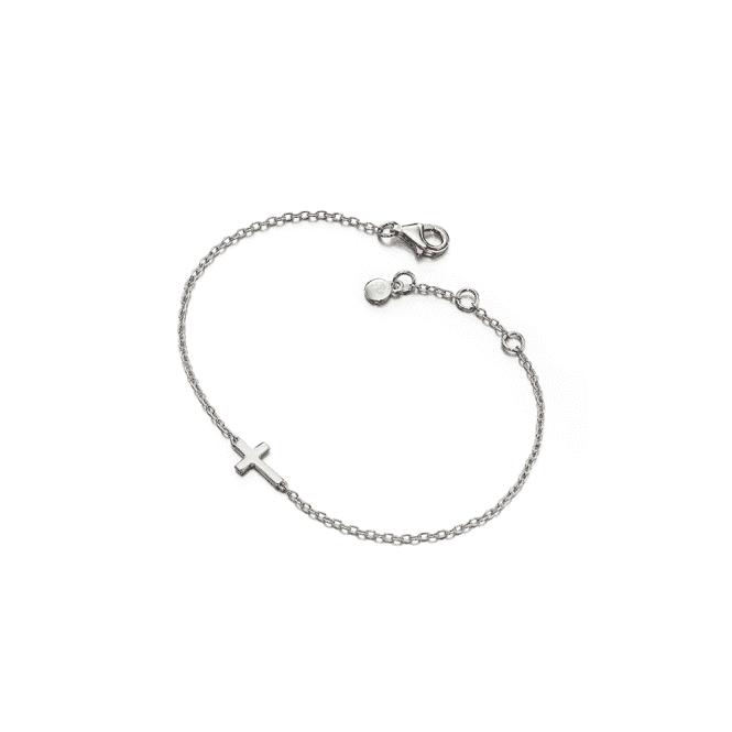 Sterling Silver Lila Grace Small Cross Bracelet