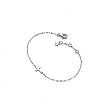 Sterling Silver Lila Grace Small Cross Bracelet
