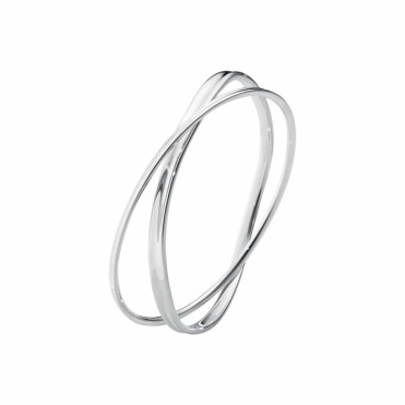 Sterling Silver Marcia Double Bangle 618B