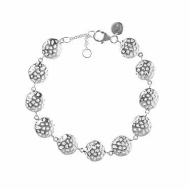 Sterling Silver Memento Disc Bracelet