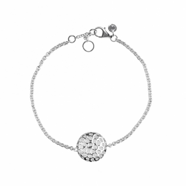 Sterling Silver Memento Disc Single Bracelet