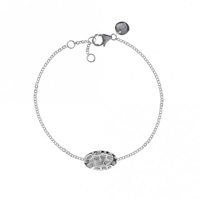 Sterling Silver Memento Pebble Single Bracelet