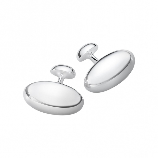 Sterling Silver Men's Classic Cufflinks 608B