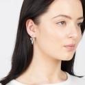 Sterling Silver Mila Ear Jackets in Quartz