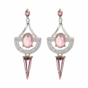 Sterling Silver Mila Ear Jackets in Rouge
