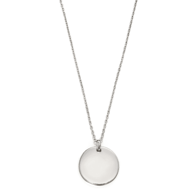 Sterling Silver Milla Adults Plain Large Disc Pendant
