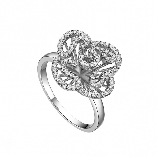 Sterling Silver Mini Cascade Ring