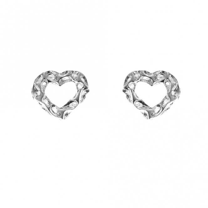 Sterling Silver Mini Heart Studs