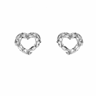 Sterling Silver Mini Heart Studs