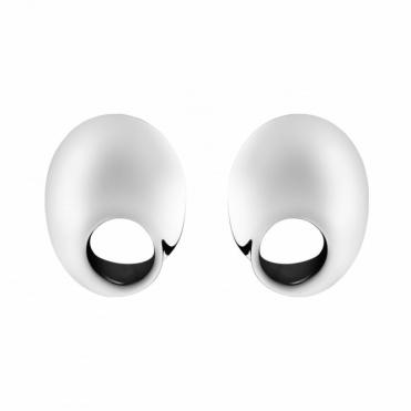 Sterling Silver Mobius Earrings