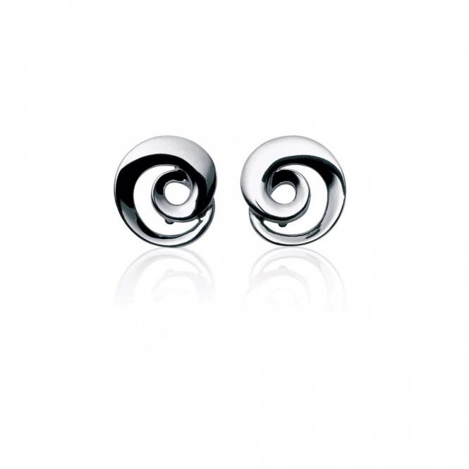 Sterling Silver Mobius Stud Earrings