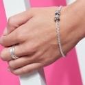 Sterling Silver Mojo T-Bar Bracelet