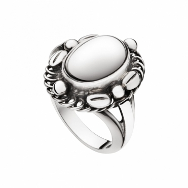 Sterling Silver Moonlight Blossom Ring