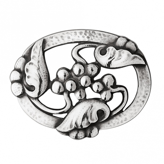 Sterling Silver Moonlight Grapes Brooch 101