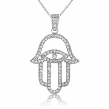 Sterling Silver Mythos Hamsa Pendant