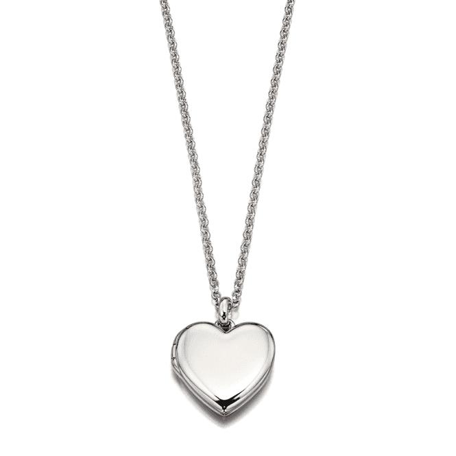 Sterling Silver Olivia Plain Medium Heart Locket