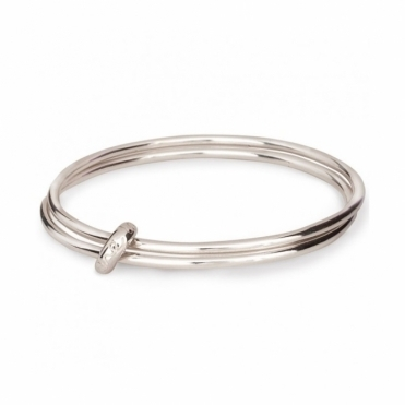 Sterling Silver One Love Bangle
