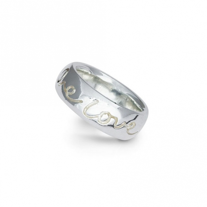 Sterling Silver One Love Ring