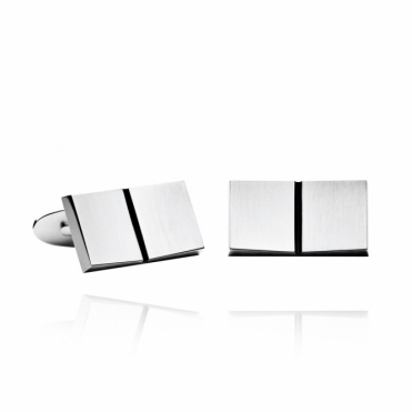 Sterling Silver Open Book Cufflinks