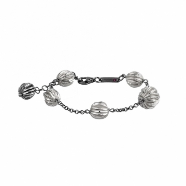 Sterling Silver Oxidised 5.11 Giaccia Bracelet