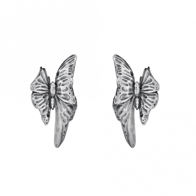 Sterling Silver Oxidised Askill Stud Earrings