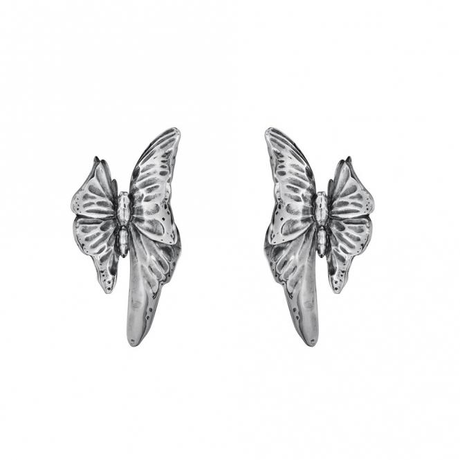 Sterling Silver Oxidised Askill Stud Earrings