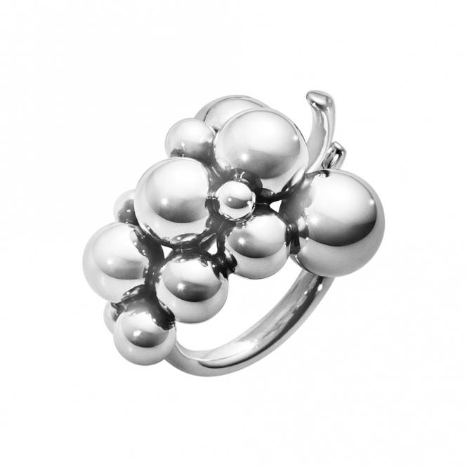Sterling Silver Oxidised Medium Moonlight Grapes Ring