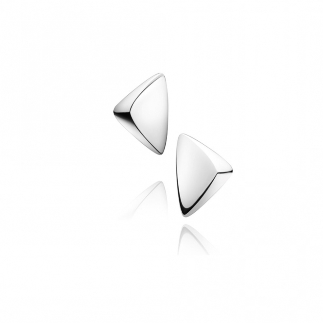 Sterling Silver Peak Clip Earrings
