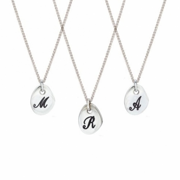 Sterling Silver Personalised Initial 'A' Necklace