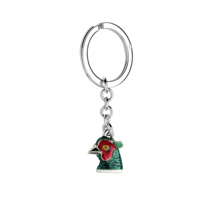 Sterling Silver Pheasant Key Ring