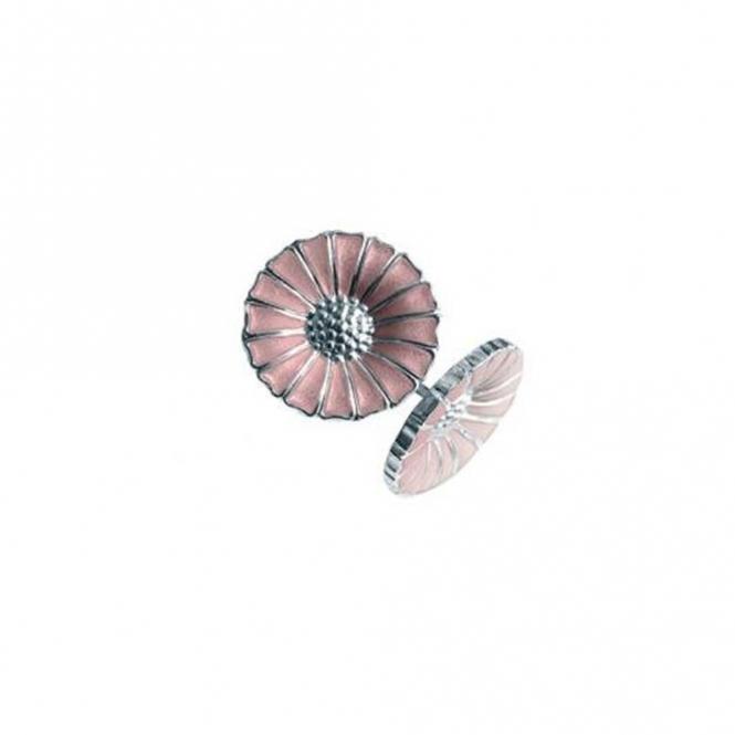 07ae576cf Georg Jensen Sterling Silver Pink Daisy Earrings   Wharton Goldsmith