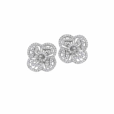 Sterling Silver Rhodium Cascade Mini Earrings