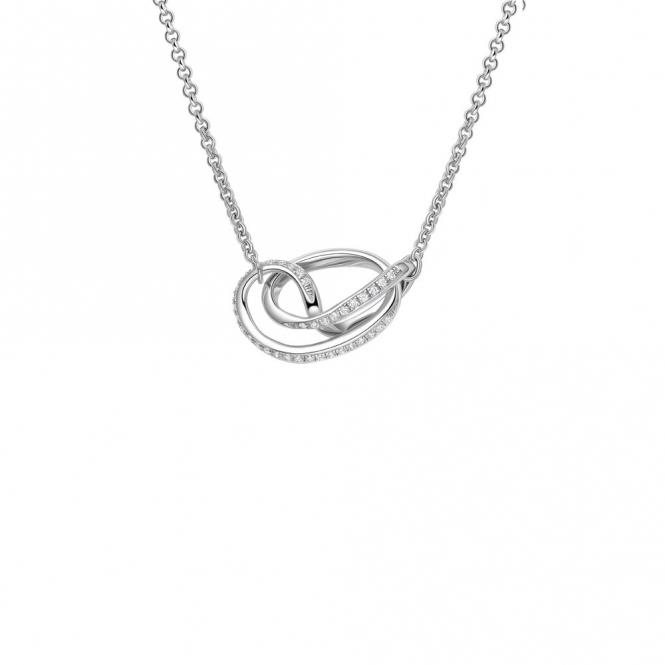 Sterling Silver Rhodium CZ Serenity Pendant