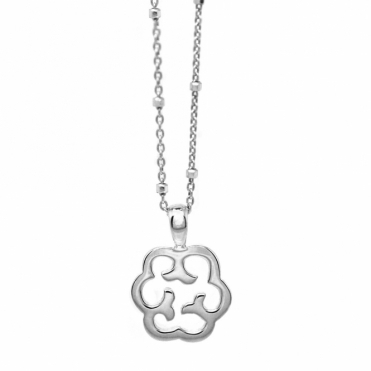 Sterling Silver Rhodium Plated Small Cloud Necklace