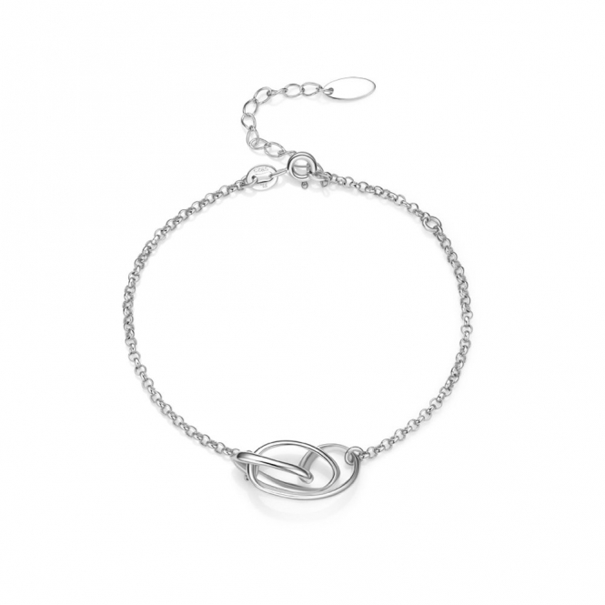 Sterling Silver Rhodium Serenity Bracelet