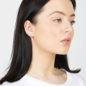 Sterling Silver Robyn Earrings in Lavender