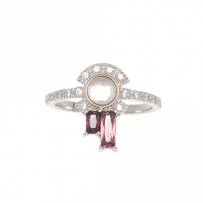 Sterling Silver Robyn Ring in Rouge