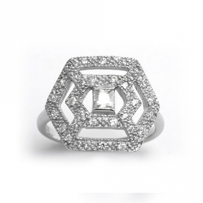 Sterling Silver Romance Luxe Ring