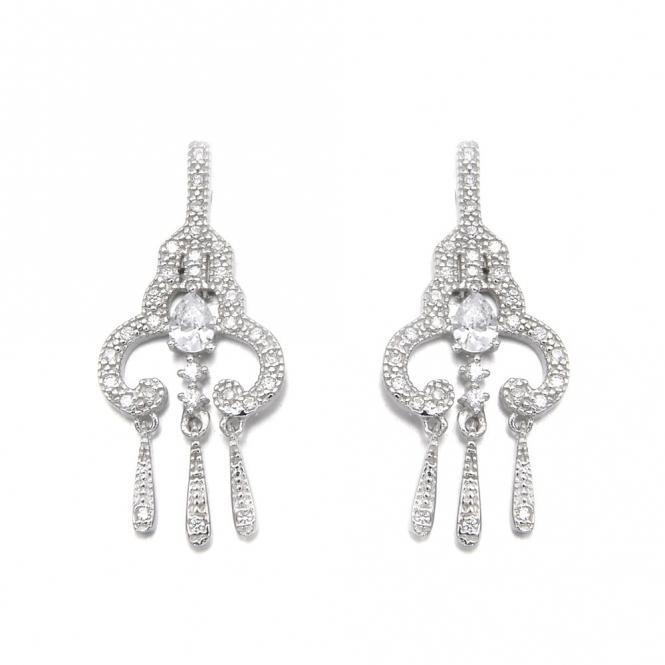 Sterling Silver Romance Margot Earrings