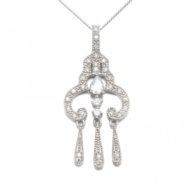 Sterling Silver Romance Margot Pendant