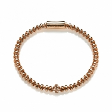 Sterling Silver Rose Gold Crystal Small Cocoon Bracelet