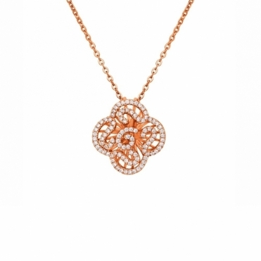 Sterling Silver Rose Gold Mini Cascade Pendant