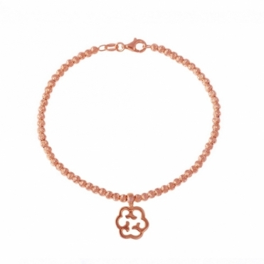 Sterling Silver Rose Gold Plated Small Cloud Bracelet