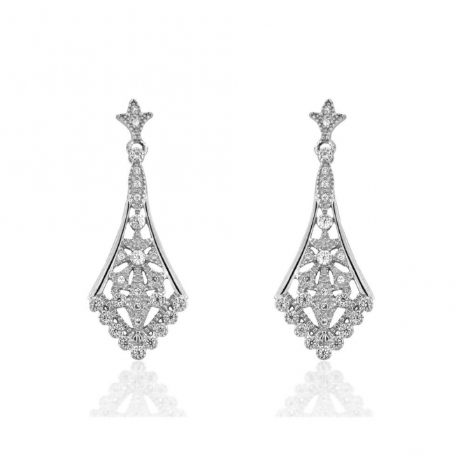 Sterling Silver Royal Victoria Earrings